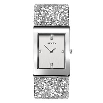 Seksy Rocks® Ladies' Rhodium Plated Bracelet Watch - Product number 4519264