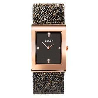 Seksy Rocks® Ladies' Rose Gold Plated Bracelet Watch - Product number 4519272