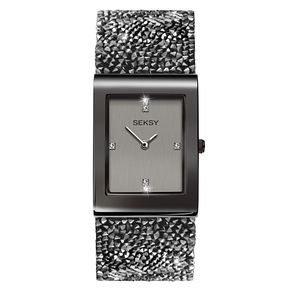 Seksy Rocks Ladies' Gun Metal Plated Bracelet Watch - Product number 4519280