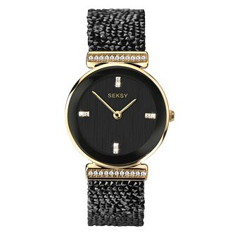 Seksy Rocks Ladies' Gold Plated Bracelet Watch - Product number 4519299