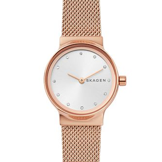 Skagen Ladies' Rose Gold Stainless Steel Mesh Bracelet Watch - Product number 4519426