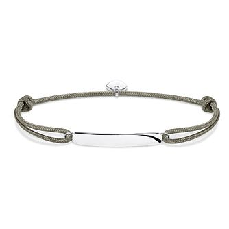 Thomas Sabo Secret Men's Silver Bar Beige Bracelet - Product number 4521218