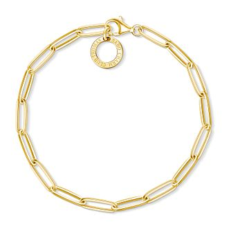 Thomas Sabo Charm Club Gold Plated Paper Clip Charm Bracelet - Product number 4524314