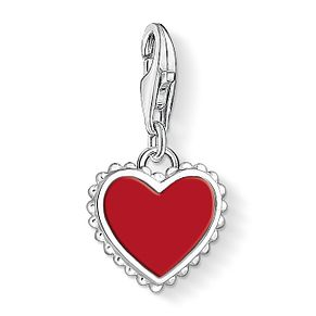 Thomas Sabo Charm Club Sterling Silver Red Heart Charm - Product number 4524713