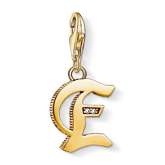 Thomas Sabo Charm Club Gold Plated Vintage E Letter Charm - Product number 4528697