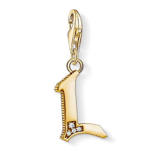 Thomas Sabo Charm Club Gold Plated Vintage L Letter Charm - Product number 4528883