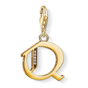 Thomas Sabo Charm Club Gold Plated Vintage Q Letter Charm - Product number 4529073