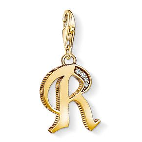 Thomas Sabo Charm Club Gold Plated Vintage R Letter Charm - Product number 4529081