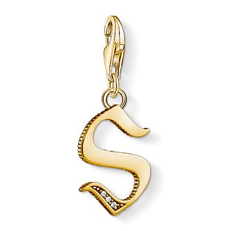 Thomas Sabo Charm Club Gold Plated Vintage S Letter Charm - Product number 4529138