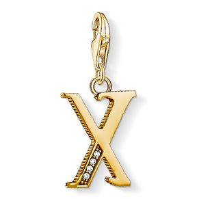 Thomas Sabo Charm Club Gold Plated Vintage X Letter Charm - Product number 4529189
