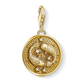 Thomas Sabo Charm Club Gold Plated Pisces Charm - Product number 4529766