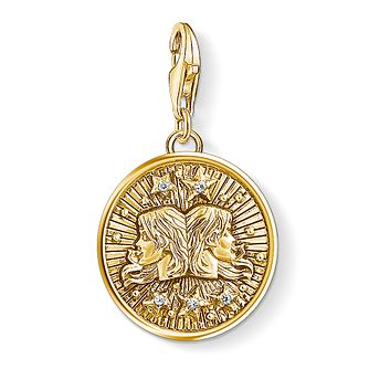 Thomas Sabo Charm Club Gold Plated Gemini Charm - Product number 4529995