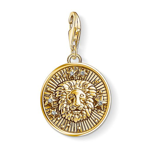 Thomas Sabo Charm Club Gold Plated Leo Charm - Product number 4530012