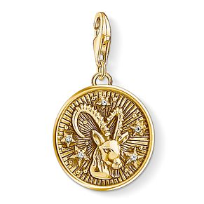 Thomas Sabo Charm Club Gold Plated Capricorn Charm - Product number 4530063