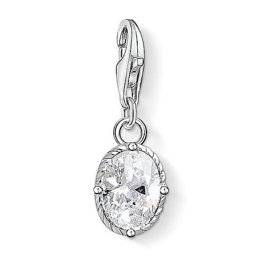 Thomas Sabo Charm Club Sterling Silver Vintage Stone Charm - Product number 4530128