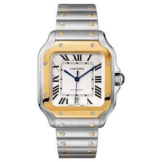 Cartier Santos Men's 18ct Gold Bracelet and Strap Watch - Product number 4530225