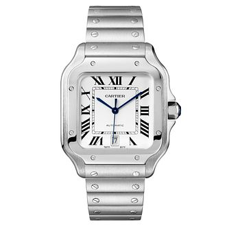 Cartier Santos Men's Square Bracelet and Strap Watch - Product number 4530241