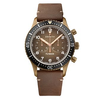 Zenith Bronze Pilot Cronmetro Strap Watch - Product number 4534883