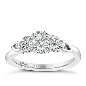 Emmy London Palladium 1/3 Carat Diamond Solitaire Ring - Product number 4537548