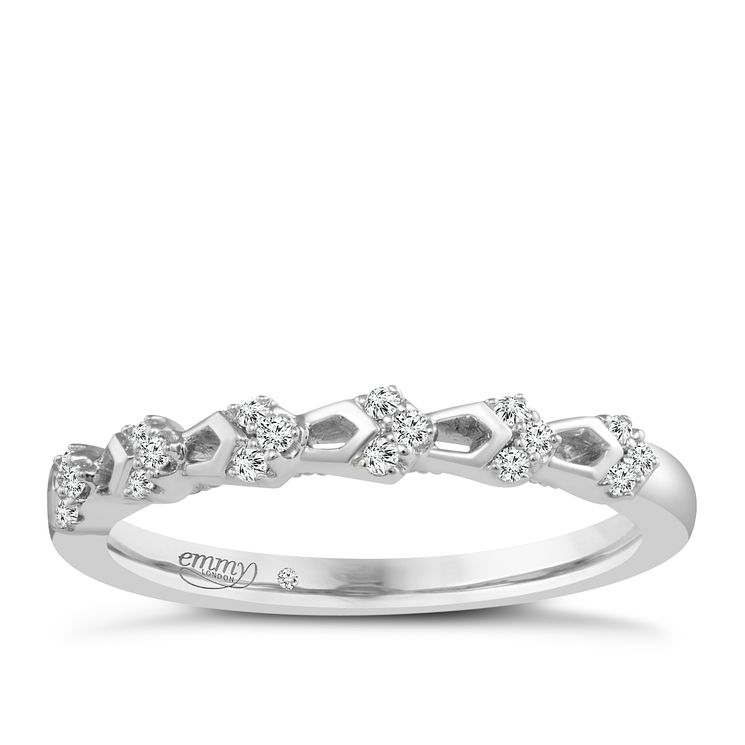 Emmy London 9ct White Gold Diamond Ring - Product number 4544560
