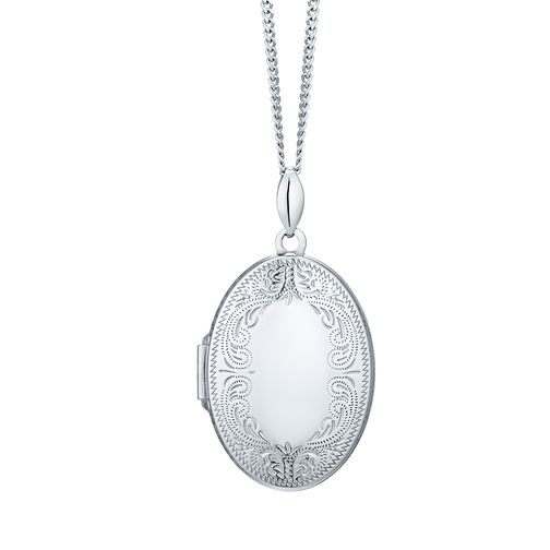 "Sterling Silver 20"" Chain Oval Locket - Product number 4547055"