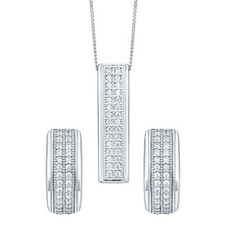 Sterling Silver Cubic Zirconia Jewellery Set - Product number 4548957