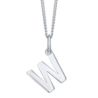 Silver W Initial Pendant - Product number 4549686