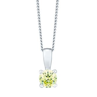 August Silver Green Cubic Zirconia Pendant - Product number 4551443