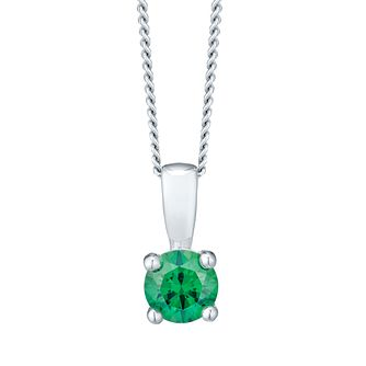 May Sterling Silver Green Cubic Zirconia Pendant - Product number 4551508