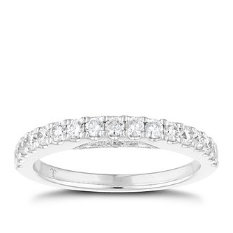 Tolkowsky 18ct White Gold 0.50ct Diamond Wedding Band - Product number 4554590