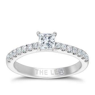 Leo Diamond 18ct White Gold 0.66ct Princess Cut Ring - Product number 4555562