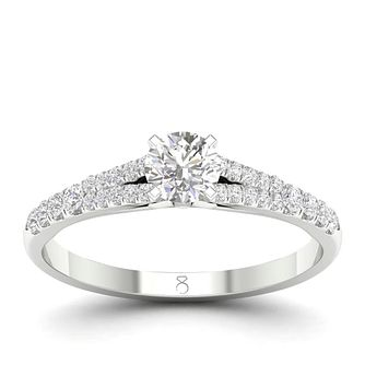 The Diamond Story 18ct White Gold 1/2 Carat Solitaire Ring - Product number 4556461