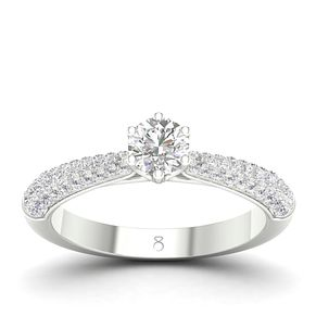 The Diamond Story 18ct White Gold 2/3ct Diamond Ring - Product number 4557425