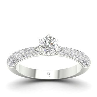 The Diamond Story 18ct White Gold 2/3 Carat Diamond Ring - Product number 4557425
