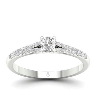 The Diamond Story 18ct White Gold 1/3ct Diamond Ring - Product number 4561384
