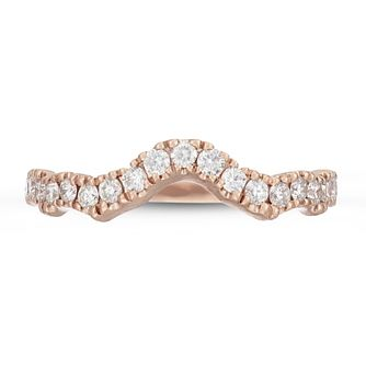 Neil Lane 14ct Rose Gold 0.29ct Diamond Shaped Band - Product number 4567137