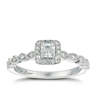 Neil Lane 14ct White Gold 0.41ct Princess Cut Diamond Ring - Product number 4568427