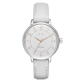 Armani Exchange Ladies' Grey Leather Strap Watch - Product number 4570758