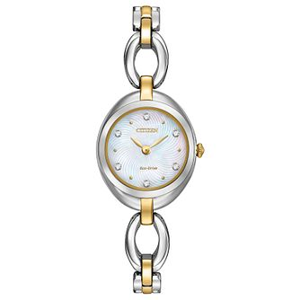 Citizen Eco-Drive Ladies' Two Colour Steel Bracelet Watch - Product number 4574281