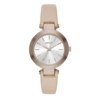 DKNY Ladies' Silver Dial Brown Leather Strap Watch - Product number 4575024