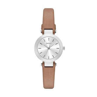 DKNY Ladies' Stanhope Slim Brown Leather Strap - Product number 4575083