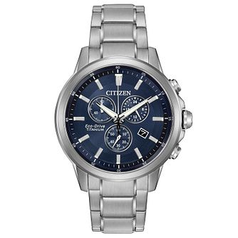 Citizen Eco Drive Men's Titanium Bracelet Watch - Product number 4575644