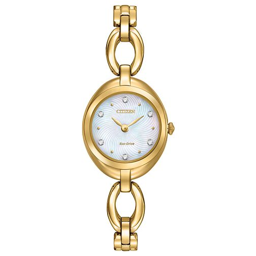Citizen Eco Drive Ladies' Gold Tone Bracelet Watch - Product number 4577957