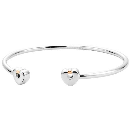 Clogau Gold Cariad Silver & 9ct Rose Gold Medium Bangle - Product number 4580796