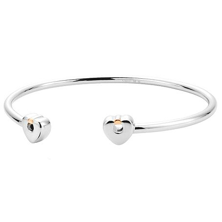 Clogau Gold Cariad Silver & 9ct Rose Gold Large Bangle - Product number 4580818