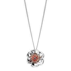 Clogau Gold Silver & 9ct Rose Gold Welsh Poppy Pendant - Product number 4580869