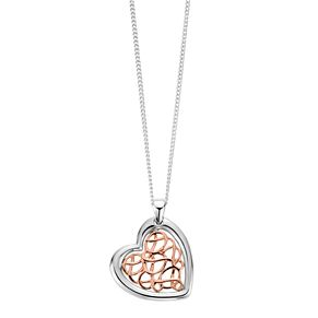 Clogau Gold Welsh Royalty Silver & 9ct Rose Gold Pendant - Product number 4580990