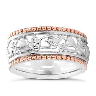 Clogau Gold Tree Of Life Silver & 9ct Rose Gold Ring - Product number 4582039
