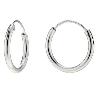 Silver Hinged Hoop Earrings - Product number 4584325