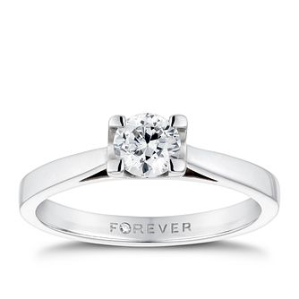 18ct White Gold 1/2 Carat Forever Diamond Ring - Product number 4600371